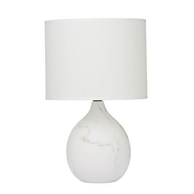 Mila Marble Design Table Lamp White/White 22X36Cm