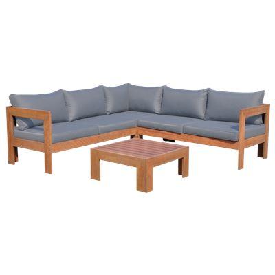 Eucalyptus Corner Lounge 4Pce Setting- Rustic Grey