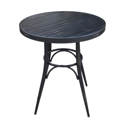 Round Café Table Matt Black