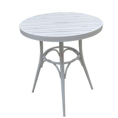 Round Café Table Antique White