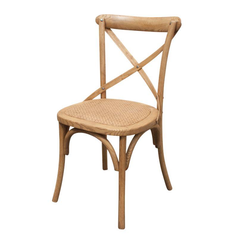 Cross Back Chair Oak Natural
