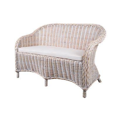 Bonsum 2 Seat Love Chair White Wash