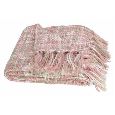 Barnsley Throw 125x150cm Dusty Pink