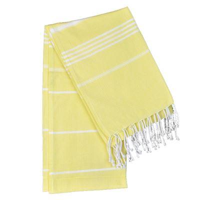 Cotton Stripe Hammam Towel Yellow 100x180cm