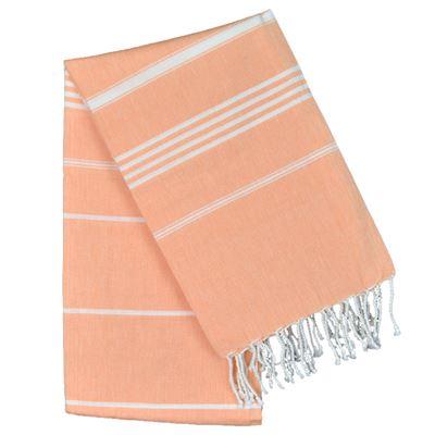 Cotton Stripe Hammam Towel Orange 100x180cm