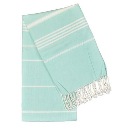 Cotton Stripe Hammam Towel Turquoise 100x180cm