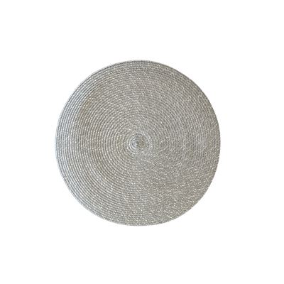 Silver Tight Weave Round Placemat 38cm