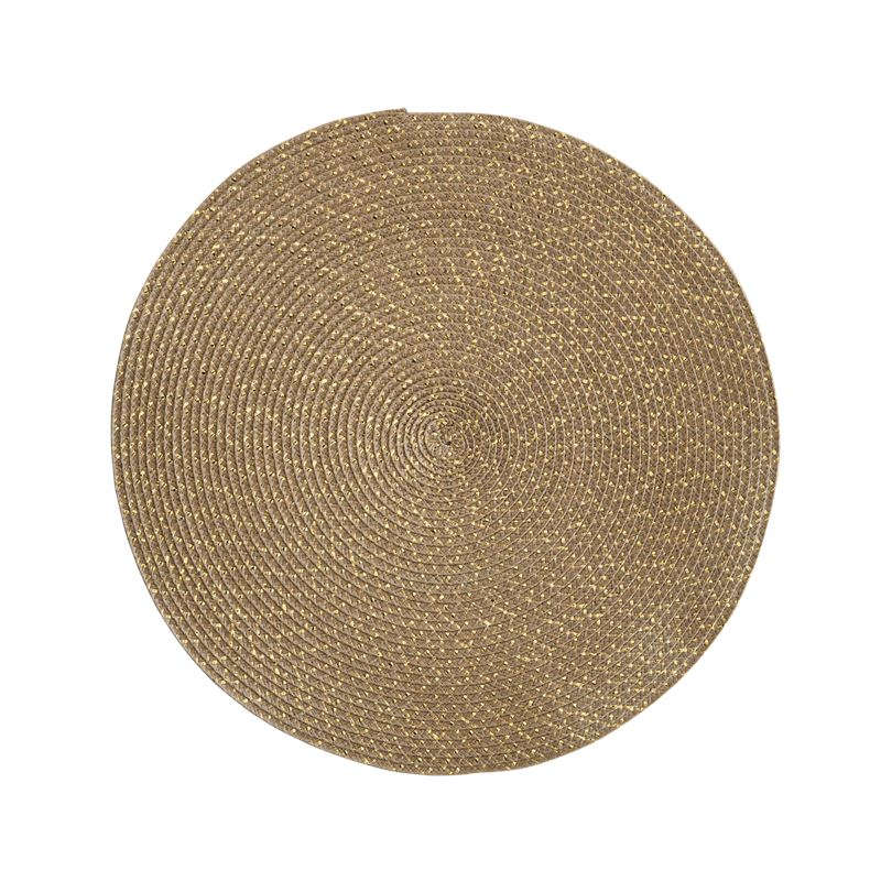 Gold Tight Weave Round Placemat 38cm