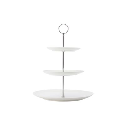 White Basics Diamon 3-Tier Cake Stand Gb