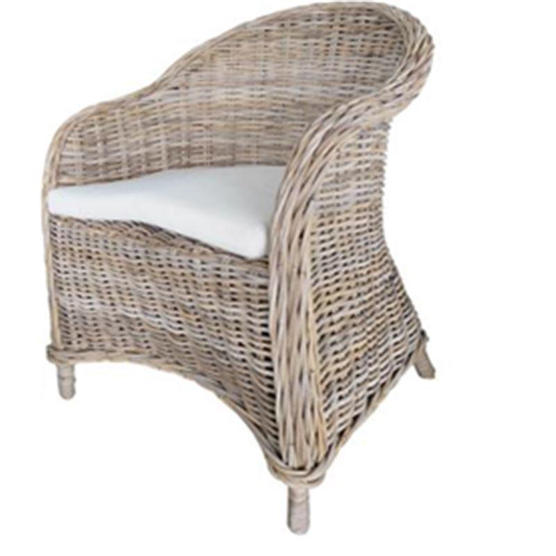 Bonsum Rattan Weave Chair Kubu Grey