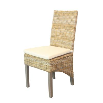 Kobo Britain Rattan Weave Chair Kubu Grey