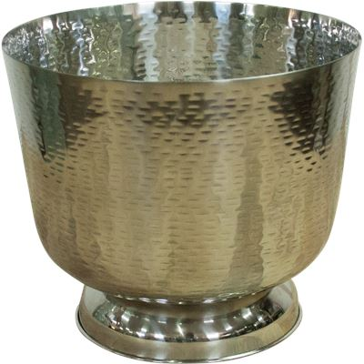Round Hammered Ice/Drinks Bucket w/ Foot