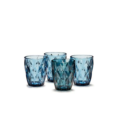 Camden Tumbler Embossed  Indigo 260ML Set 4