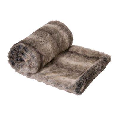 Doe Faux Fur Throw 125x150cm Brown