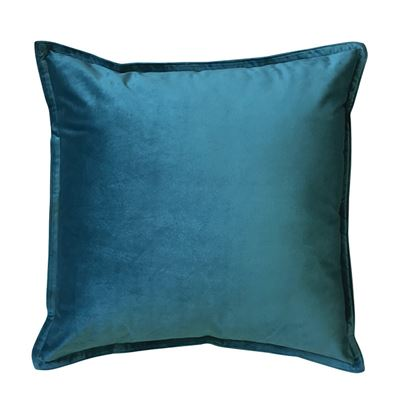 Mira Velvet Teal Cushion 50cm