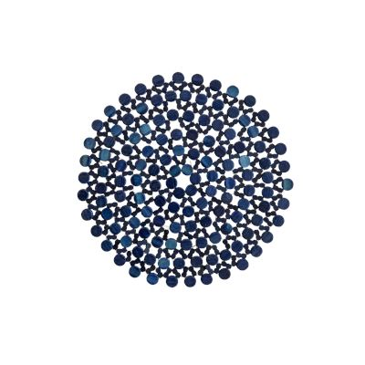 Bezwhick Round Placemat Seablue 33cm