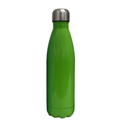 S/S bottle green body silver cap 500ML
