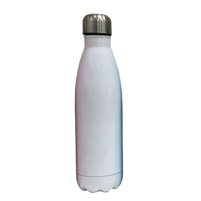 S/S bottle white body silver cap  500ML