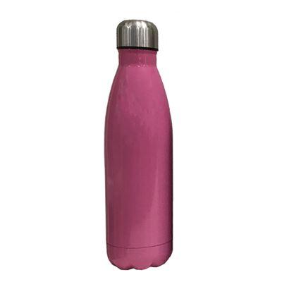 S/S bottle pink body silver cap  500ML