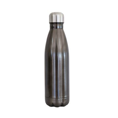 S/S bottle dark grey body silver cap  500ML