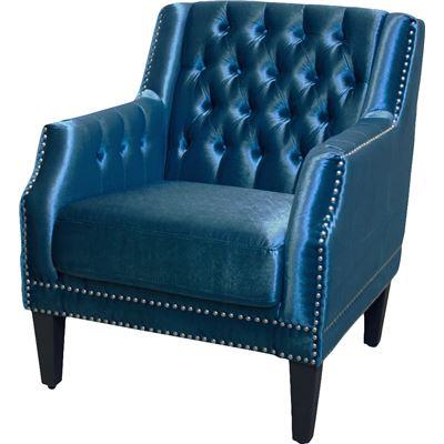 Executive Armchair Blue Velvet
