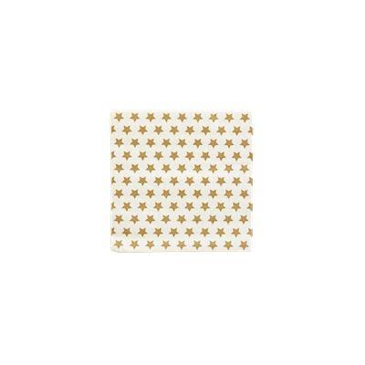 Gold Stars on white Napkin,3-layer,3333cm
