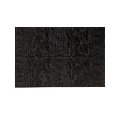 PU Placemat Snake Skin Pattern Black 30x45cm