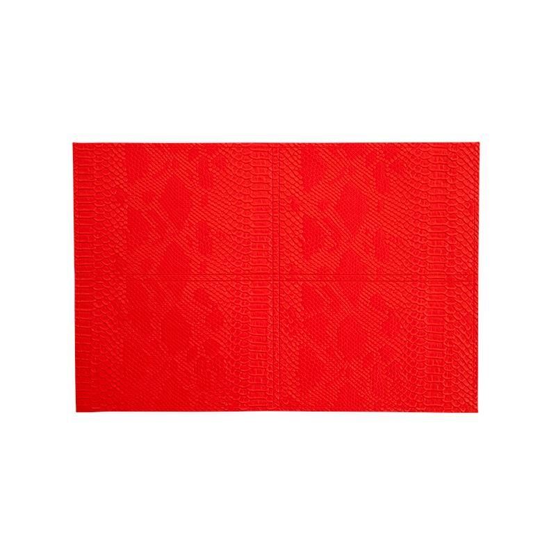 PU Placemat Snake Skin Pattern Red 30x45cm