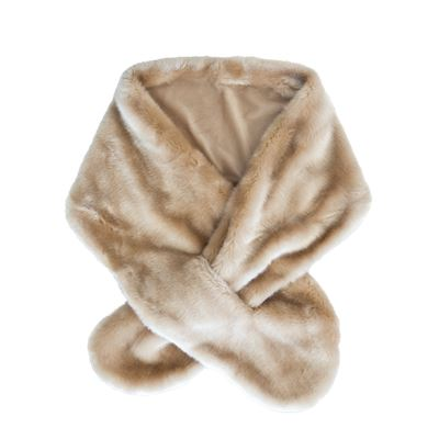 Faux Fur Scarf 28 x 58 cm - Light