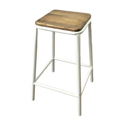 Tube Stool Frosted White Ash Top