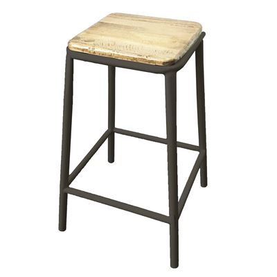 Tube Stool Gunmetal Ash Top