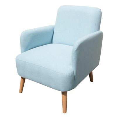Art Deco Armchair Powder Blue