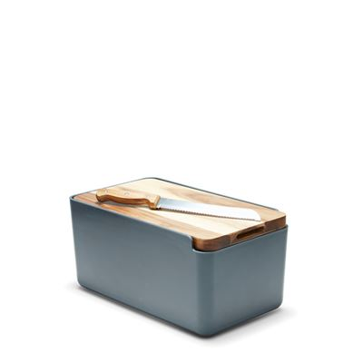 Hudson Bread Bin Charcoalw/ Wooden Cutting Board Lid