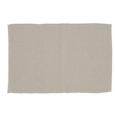 Lollipop Ribbed Placemat Light Grey 33x48cm