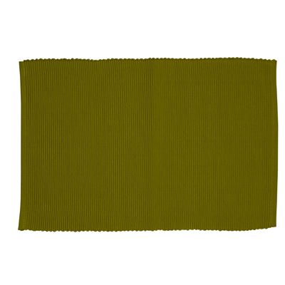 Lollipop Ribbed Placemat Olive 33x48cm