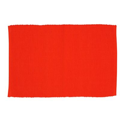 Lollipop Ribbed Placemat Red 33x48cm