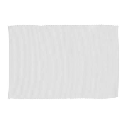 Lollipop Ribbed Placemat White 33x48cm