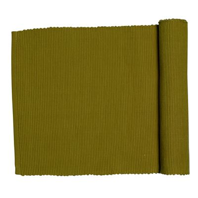 Lollipop Ribbed Runner Olive 33x135cm