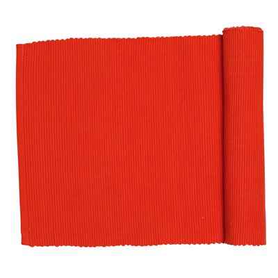 Lollipop Ribbed Runner Red 33x135cm