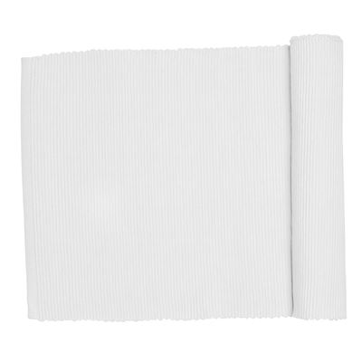 Lollipop Ribbed Runner White 33x135cm