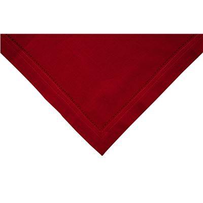 Elegant Napkin Hemstitch Red 45x45