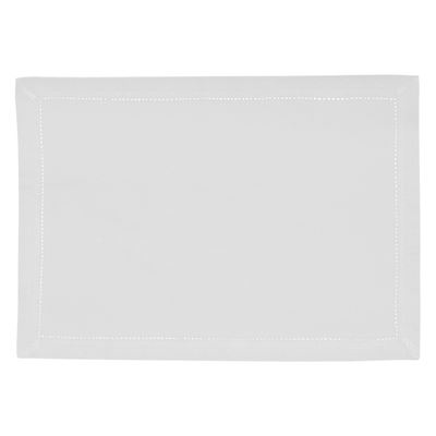 Elegant Hemstitch Placemat White