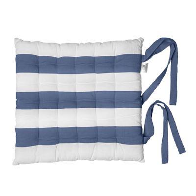 Alfresco Chair Pads Stripe Cobalt Blue 40x40cm
