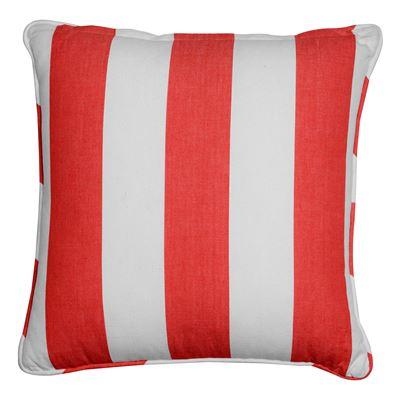 Alfresco Cushion Stripe 40x40cm Red