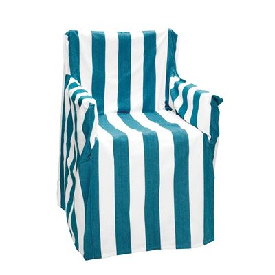 Alfresco Director Chair Covers Stripe Cobalt Blue