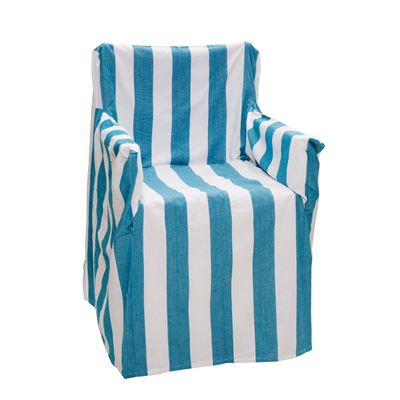 Alfresco Director Chair Covers Stripe Ocean Blue