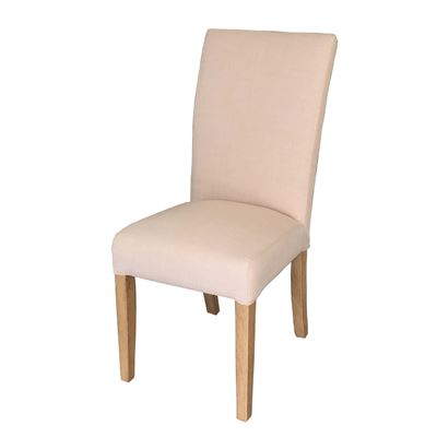 Set of 2 Linen Dining Chair