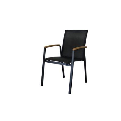 Set of 4 Cario Armchair Black