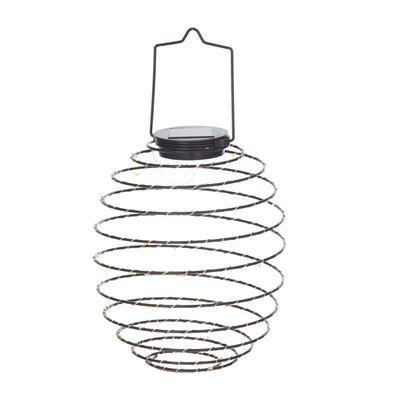Coil Solar Lantern Black