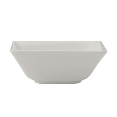 White Basics Linear Square Bowl 10Cm